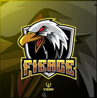 Logo maskotki sportowej eagle