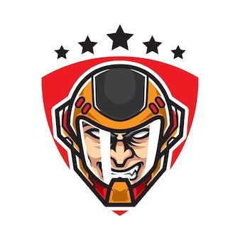 Logo maskotki sportowej kapitan head