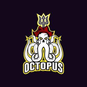 Logo maskotki sportowej ośmiornicy
