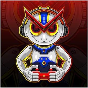 Logo maskotki sportowej robota