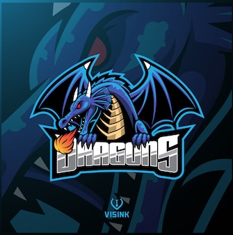 Logo maskotki sportowej smoka