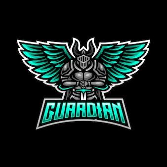 Logo maskotki strażnika gier esport