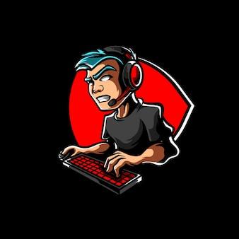 Logo maskotki streamer e sport