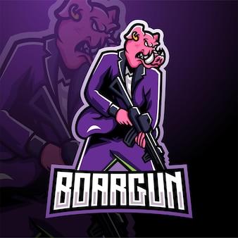 Logo maskotki strzelców razorback esport