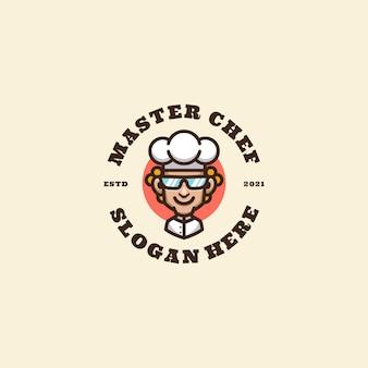 Logo maskotki szefa kuchni