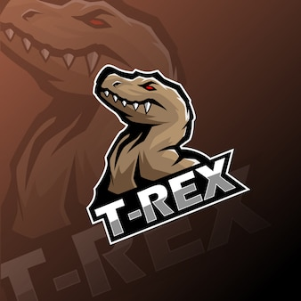 Logo maskotki t-rex esport