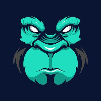 Logo maskotki twarzy goryla