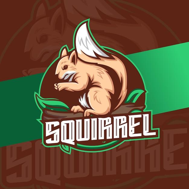 Logo maskotki wiewiórki