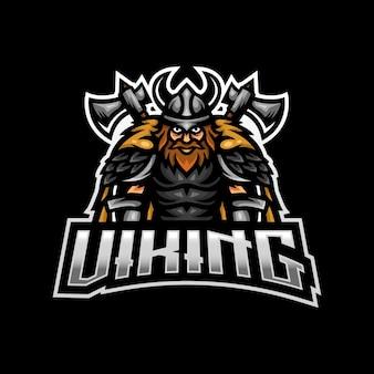 Logo maskotki wikinga do gier e-sportowych