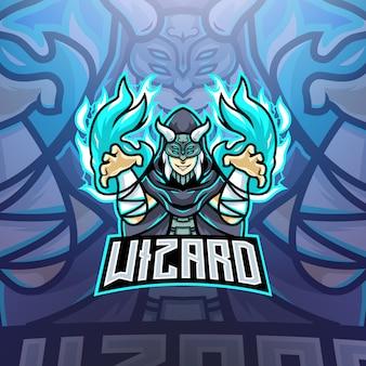 Logo maskotki wizard esports