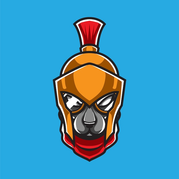 Logo maskotki wojownika psa