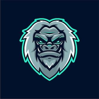 Logo maskotki yeti