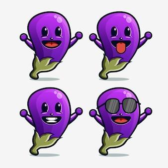 Logo maskotki z bakłażanem