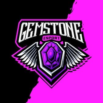Logo maskotki z kamieni szlachetnych