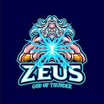 Logo maskotki zeus dla e-sportu i zespołu sportowego