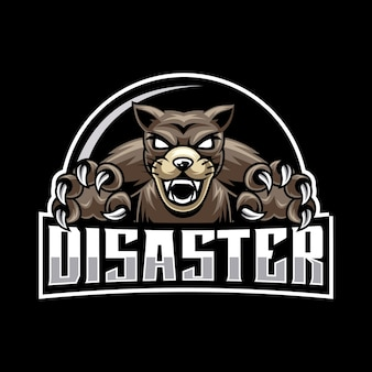 Logo maskotki zły pies