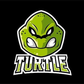 Logo maskotki żółwia sportowego i e-sportowego