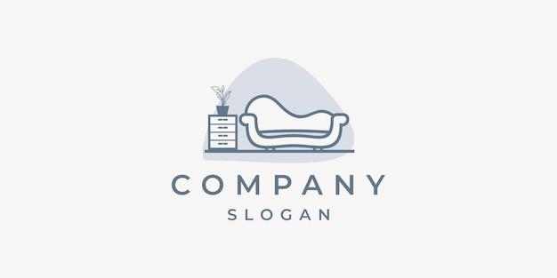 Logo mebli domowych z minimalistycznymi elementami