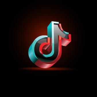Logo mediów społecznościowych tik tok