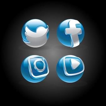 Logo mediów społecznościowych w kolorze niebieskim