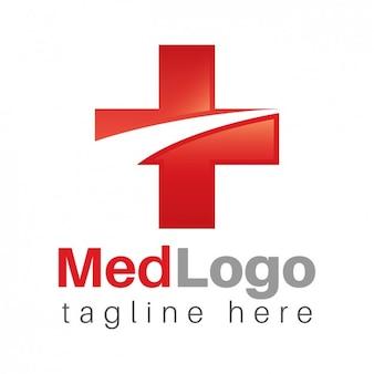 Logo medyczny, czerwony krzyż
