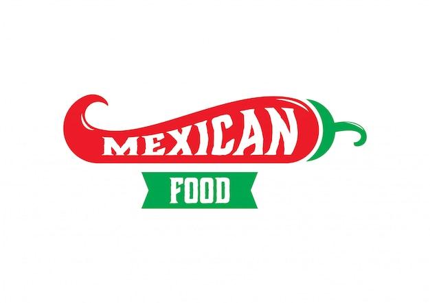 Logo meksykańskie jedzenie