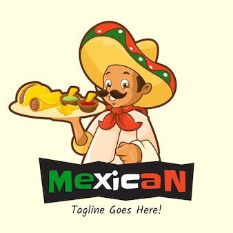 Logo meksykańskiego jedzenia