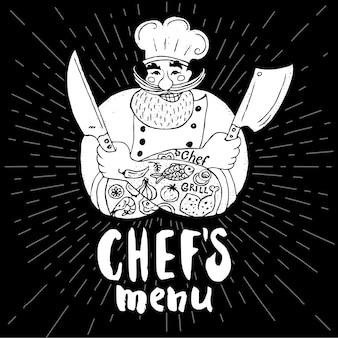 Logo menu szefa kuchni