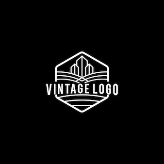 Logo miasta w stylu vintage