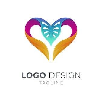 Logo miłości i liści