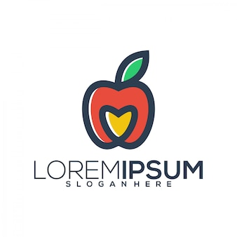 Logo miłości jabłko