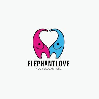 Logo miłości słonia