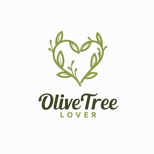 Logo miłośnika drzewa oliwnego z artystyczną koncepcją