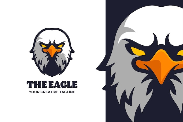 Logo mobilnego e-sportu z głową orła