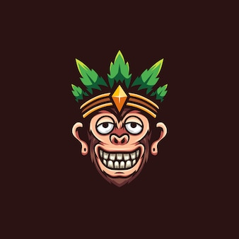 Logo monkey drunk marijuana