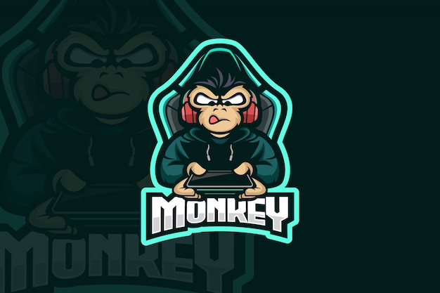 Logo monkey gamer