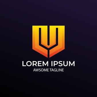 Logo monogramu litery m m