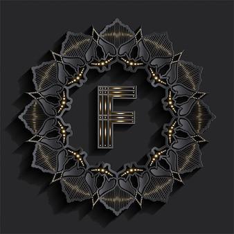 Logo monogramu złotego efektu