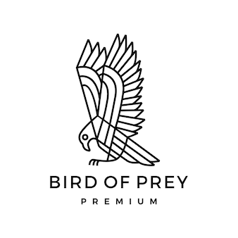 Logo monoline bird of frey