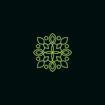 Logo monoline floral