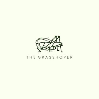 Logo monoline grasshopera