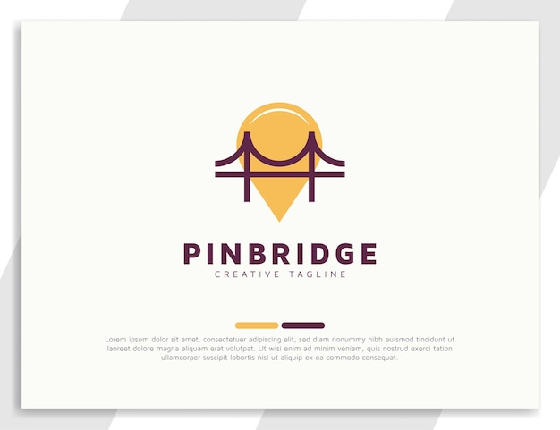 Logo mostu z koncepcją lokalizacji pinów