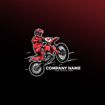 Logo motocykla motocross freestyle