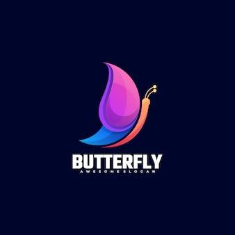 Logo motyl kolorowy styl gradientu.