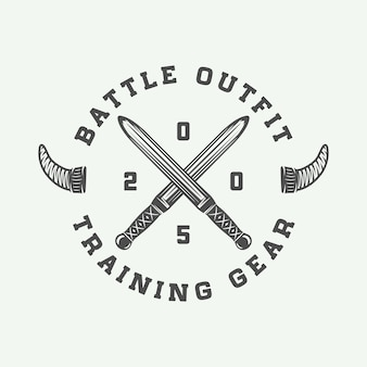 Logo motywacyjne wikingów