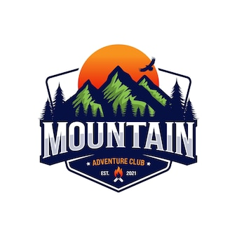 Logo mountain adventure