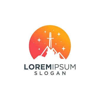 Logo mountain sword