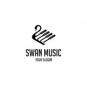 Logo muzyki łabędź