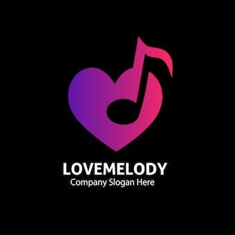 Logo muzyki melodii miłości