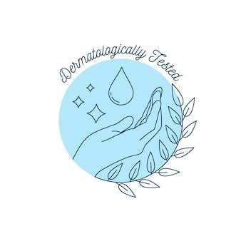 Logo mydła przetestowane dermatologicznie
